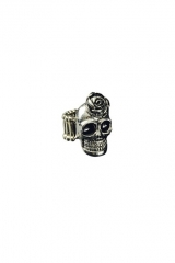 Totenkopfring Piratenring Rockerring Pirat Rocker Biker verstellbar