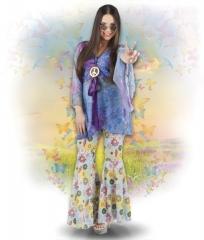 Hippie Anzug Flower 70er Jahre Hippieparty Schlager Mottoparty Event