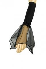 Fledermausärmel Armstulpen schwarz Halloween Gothic