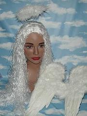 Engelsflügel aus Federn weiß 30x45cm Christkind Weihnachten