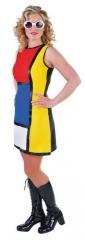60er Kleid Modern Art Hippiekleid Damenkostüm Karnevalskleid