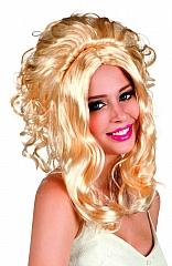 Perücke Lilly Rose blond Western Saloongirl Karnevalperücke