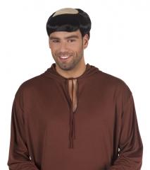 Herrenperücke Halbglatze Mönchsperücke Kostümperücke Geistlicher