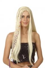 Hippie 70er Jahre Perücke blond Schlagerparty Karneval