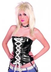 Raven Bikerperücke für Damen Rockstar Faschingsperücke blond Kostümper