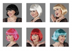 Cabarett Perücke Promo 6 verschiedene Farben sortiert Bobperücke Damen