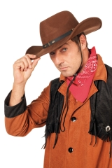 Wollfilz Rodeo braun Hut Fasching Karneval Mottoparty