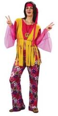Hippie 70er Jahre Kostüm Frau Karneval Fasching Party