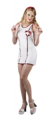 Krankenschwester Nachtschwester sexy Kostüm Pailletten Nurse M