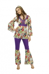 Hippie Damenkostüm Blossom 60er 70er Jahre Fasching