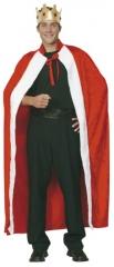Königsmantel König Krone Karneval Fasching Kostüm Party