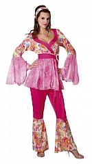 Hippie Kostüm Frau 70er Jahre Party Karneval Fasching