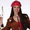 Perücke Bandana Zöpfe Damenperücke Fasching Karneval
