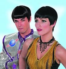Starperücke Weltall Space Unisexperücke Faschingsperücke Karneval Zube