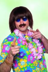Lennon Perücke mit Schnurrbart Faschingsperücke Popstarperücke Herrenp