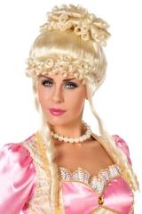 Rokoko Barock Perücke blond Renaissance Mittelalter Hofdame