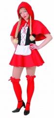 Rotkäppchen Kostüm mit Zubehör Karneval Fasching Party