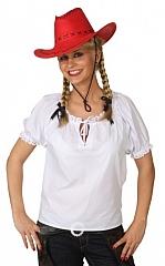 Bluse weiß Damenbluse Western Indianer Oktoberfest