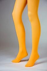 Blickdichte Strumpfhose orange Neonfarben Faschingszubehör Karnevalpar