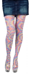 Strumpfhose Retro bunt Damenstrumpfhose Hippie Party