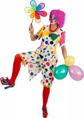 Clownfrack Augustina Clowndame Damenfrack mit Fliege Clownin