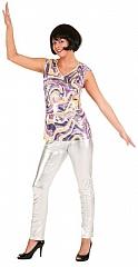 Leggings Röhrenhose silber Karneval Fasching Kostüm