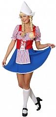 Holländerin Kleid für Damen Karneval Fasching Motto