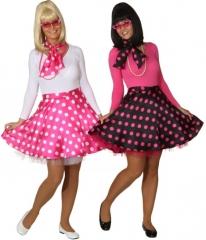 Rock n Roll 50er 60er Rock mit Petticoat Pünktchenrock Mottoparty