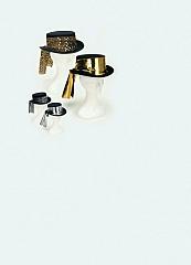 Damenzylinder Folienband Damenhut Fasching Karneval