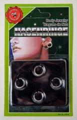 6 x Piercing Fake Imitat Nasenring Scherzartikel Party Spass