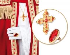 Nikolaus Bischof Santa Claus Weihnachtsmann Zubehör Ring und Kreuz