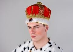 Prunkvolle Königskrone König Kaiser Prinz Karneval