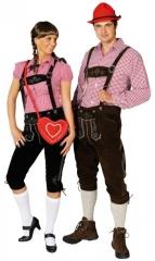 Kniebundlederhose Trachtenhose Heidi schwarz Oktoberfest Karneva