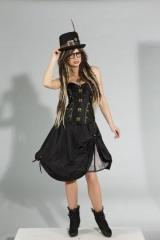 Steampunk Korsage Gothic Punk Corsage Korsett Vintage Kostüm S M L XL