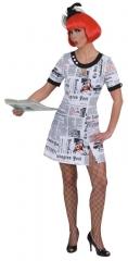 Kleid Newstime Partykleid Faschingskleid Kostümfest Fastnacht Mottopar