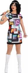 80er Jahre Kleid Partykleid Damenkleid Hippiekleid Discokleid