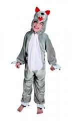 Wolf Wolfkostüm Kinderwolf Plüschoverall Tierkostüm Märchenfigur