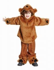 Bärenkostüm Bär Kinderbär Teddybär Plüschkostüm 104 116 128