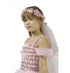 Blumenhaarkranz mit Schleier Prinzessin Blumenmädchen Hochzeit