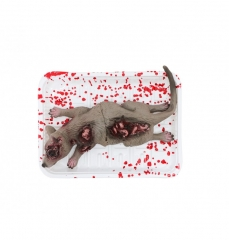 Blutige Ratte Maus Halloweendekoration Ratte in Kühlschrankverpackung