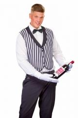 Butler Butlerweste Kellner Kellnerweste Fliege Handschuhe Oberkellner