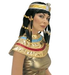Cleopatra Nofretete 3 teilig Perücke, Kragen und Stirnband