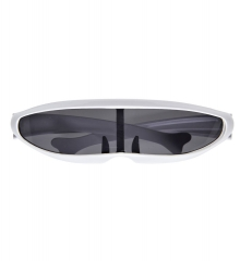 Cyber Spacemann Galaxi Roboter Techno Visor Cyberbrille weiß
