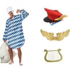 Ein Engel im Himmel Münchner Kostüm mit Flügeln Hut Harfe und Nachthemd XL