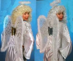 Engelsflügel Engel Marabou mit Heiligenschein Christkind