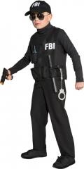 FBI Spezial Polizei Geheimagent mit Zubehör Kostüm Kinder