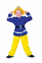 Feuerwehrmann Kinderfeuerwehr-Kostüm Feuerwehrkostüm + Feuerwehrhelm
