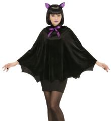 Fledermaus Umhang Cape Vampirin Fledermauskostüm Halloweenkostüm