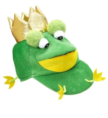 Frosch Froschhut Froschmütze mit Krone Froschkönig Frogger