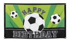 Fußballfahne Happy Birthday Fußballflagge Fußballdekoration